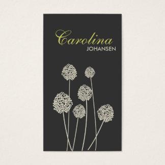 STRANGE FLOWERS TAN/GRAY Business Card