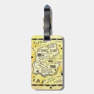 Strange Island Treasure Map Luggage Tag