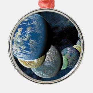 Strange New Worlds Alien Planet Montage Christmas Ornament