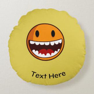Strange smiley classic round cushion