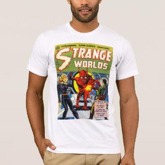 STRANGE WORLDS Cool Vintage Comic Book Cover Art T-Shirt