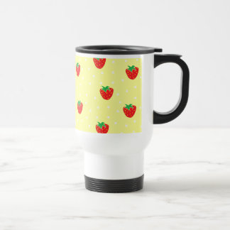 Strawberries and Polka Dots Yellow Mugs