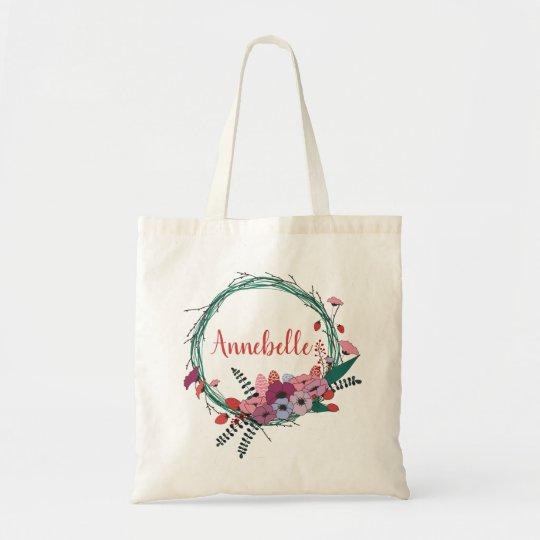 Strawberries and  Posies Tote Bag