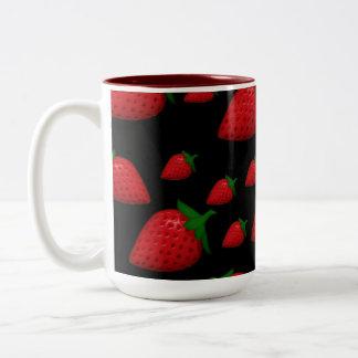 Strawberries Two-Tone Coffee Mug