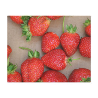 Strawberry Frame Canvas Print