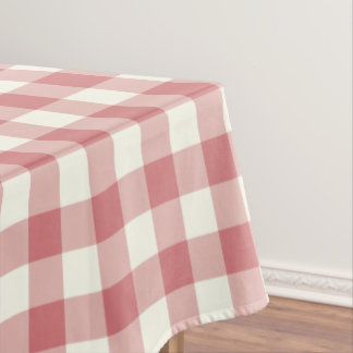 Strawberry Ice Gingham Pattern Check Tablecloth