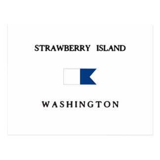 Strawberry Island Washington Alpha Dive Flag Postcard