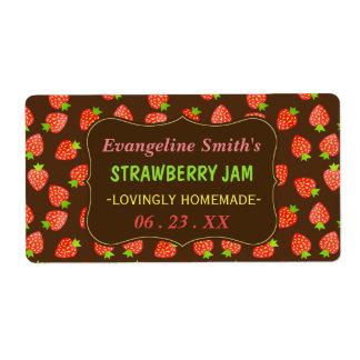 Strawberry Jam Jar Pretty Custom Strawberries