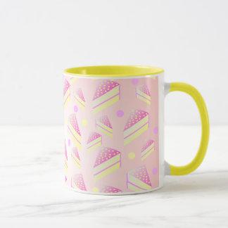 Strawberry Lemon Cake Pattern Mug