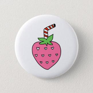 Strawberry Milk BUTTON, cute BUTTON