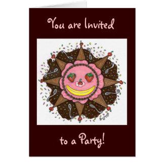 Strawberry Sun Days - Notecards(Invitations choc) Card