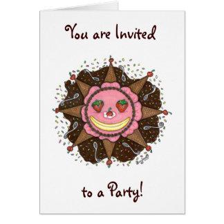 Strawberry Sun Days - Notecards(Invitations white) Card
