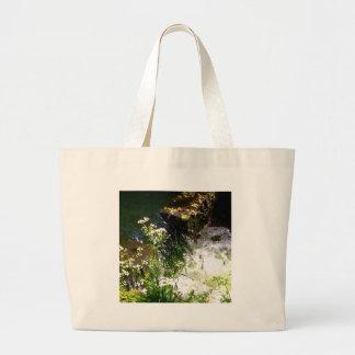 Stream Green Colourful Nature Design Large Tote Bag