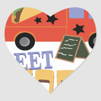 Street Foodie Heart Sticker