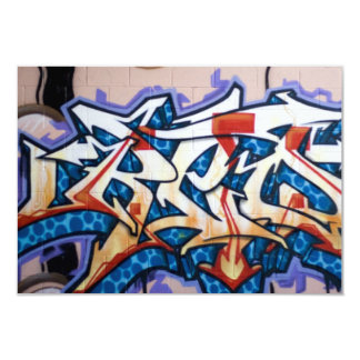 Street Graffiti Art 9 Cm X 13 Cm Invitation Card