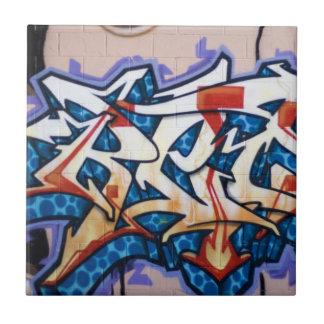 Street Graffiti Art Small Square Tile