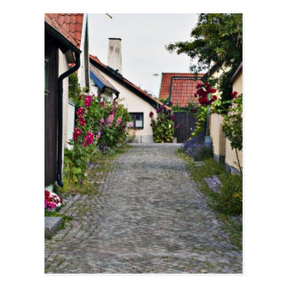 Street in old Visby Sweden Postcard