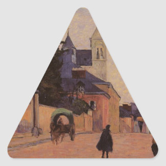 Street in Rouen by Paul Gauguin Triangle Sticker