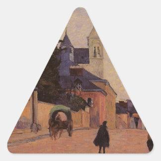 Street in Rouen by Paul Gauguin Triangle Sticker