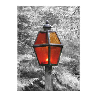 Street Lamp Stretched Canvas Print