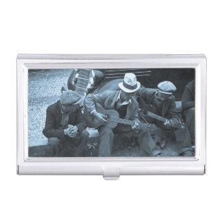 Street musicians Maynardville Tennessee 1935 Business Card Holder