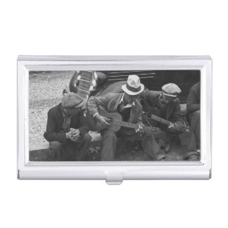 Street Musicians Maynardville Tennessee Guitarists Business Card Cases