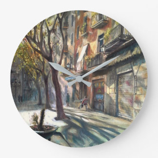Street of Barcelona Clock