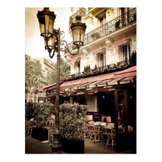 Street restaurant, Paris, France Postcard