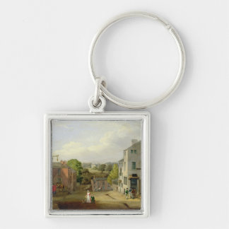 Street Scene in Chorley, Lancashire, with a View o Key Ring
