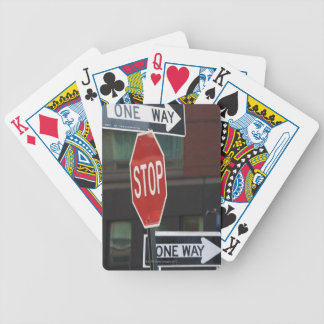 Street Signs Bicycle Playing Cards
