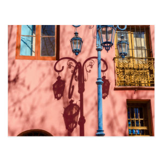 Streetlight and Pink Wall Postcard