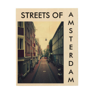 Streets OF Amsterdam Wood Wall Decor