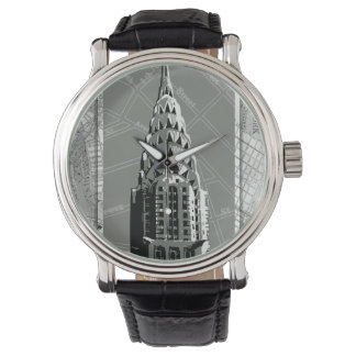 Streets of New York with Empire State Building Watch