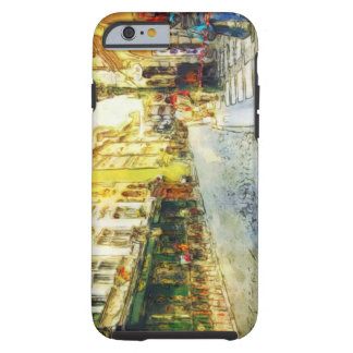 Streets of Old Prague watercolor Tough iPhone 6 Case