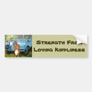 Strength From Loving Kindliness Bumper Sticker