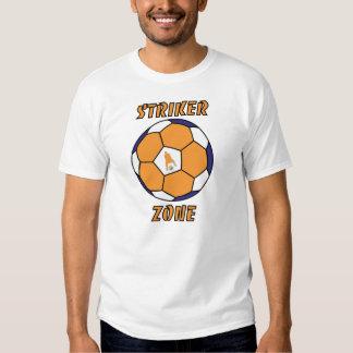 Striker Zone by J-Mo-Net-ORANGE/BLUE/WH T Shirts