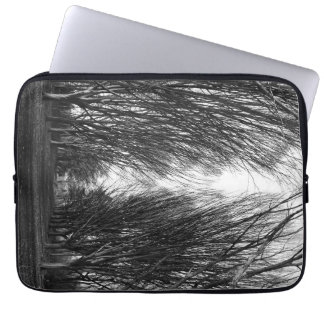 Striking black and white laptop sleeve