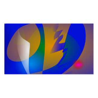 Striking Blue Abstract Art Business Cards