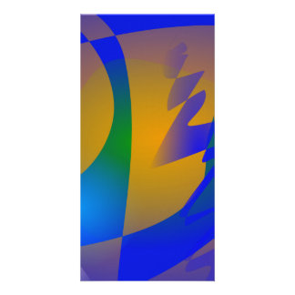 Striking Blue Abstract Art Photo Cards