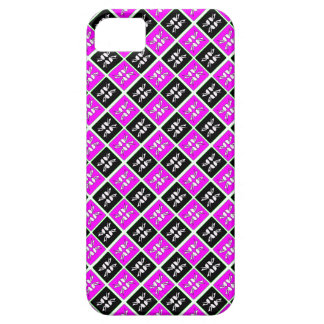 Striking Cyan & Pink abstract Design Case For The iPhone 5