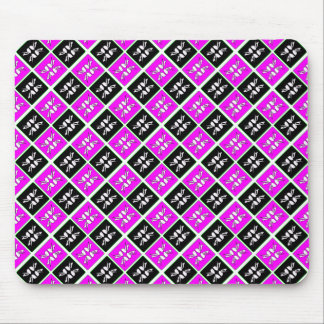 Striking Cyan & Pink abstract Design Mouse Pad