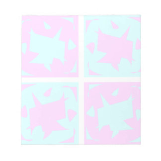 Striking Cyan & Pink abstract Design Note Pads