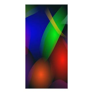 Striking Dark Abstract Art Photo Card Template