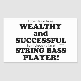 String Bass Wealthy & Successful Stickers