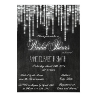 String lights chalkboard Bridal Shower Invitation