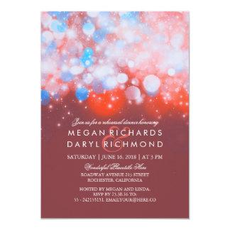 String Lights Pastel Rehearsal Dinner 13 Cm X 18 Cm Invitation Card