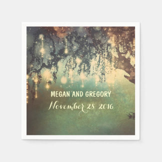 String Lights Willow Tree Branches Wedding Disposable Serviette