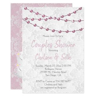 String of Pink Lights Bridal Shower Card