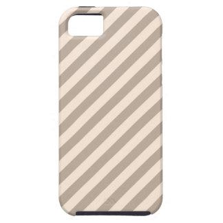 Stripe Pattern in Neutral Colors . Tough iPhone 5 Case