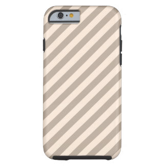 Stripe Pattern in Neutral Colors . Tough iPhone 6 Case